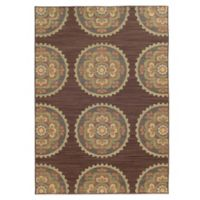 Tommy Bahama® Cabana Collection Suzani Brown 1-Foot 10-Inch x 3-Foot 3-Inch Rug