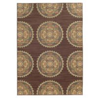 Tommy Bahama® Cabana Collection Suzani Brown 3-Foot 10-Inch x 5-Foot 5-Inch Rug