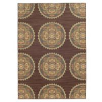 Tommy Bahama® Cabana Collection Suzani Brown 7-Foot 10-Inch x 10-Foot 10-Inch Rug