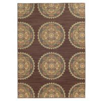 Tommy Bahama® Cabana Collection Suzani Brown 9-Foot 10-Inch x 12-Foot 10-Inch Rug