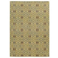 Tommy Bahama® Cabana Collection Geometric Green 1-Foot 10-Inch x 3-Foot 10-Inch Rug
