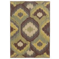 Tommy Bahama® Cabana Collection Ikat Brown 7-Foot 10-Inch x 10-Foot 10-Inch Rug