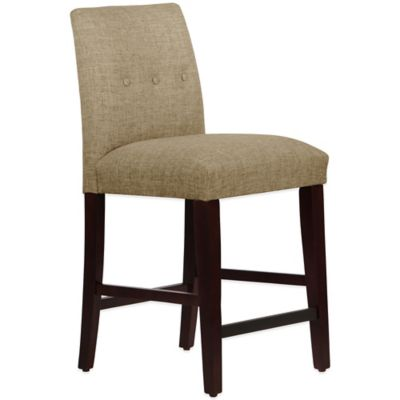 Skyline Furniture Ariana Tapered Counter Stool With Buttons In Zuma  Cobblestone