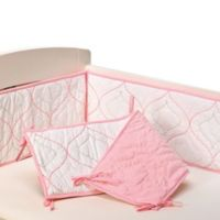 Living Textiles Baby Mix & Match Quilted Bumper in White/Pink