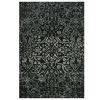 Feizy Beloha 9-Foot 6-Inch x 13-Foot 6-Inch Rug in Black/White