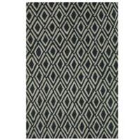 Feizy Diamonds 5-Foot x 8-Foot Rug in Grey/Black