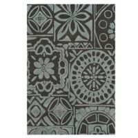Feizy Floral Circle 9-Foot 6-Inch x 13-Foot 6-Inch Rug in Charcoal/Grey