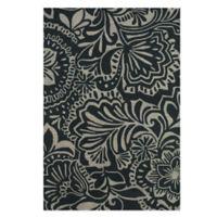 Feizy Floral 9-Foot 6-Inch x 13-Foot 6-Inch Indoor/Outdoor Rug in Grey/Black