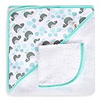 JJ Cole® Hooded Towel in Aqua Whale