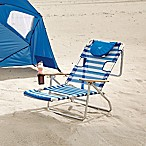 Ostrich 3N1  Beach Chair in Blue/White