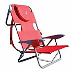Ostrich-On-Your-Back Reclining Beach Chair in Red