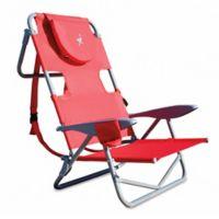 Ostrich Reclining Beach Chair In Red