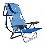 Ostrich-On-Your-Back Reclining Beach  Chair in Blue