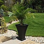 Mayne Bordeaux 28.8-Inch Tall Planter in Black