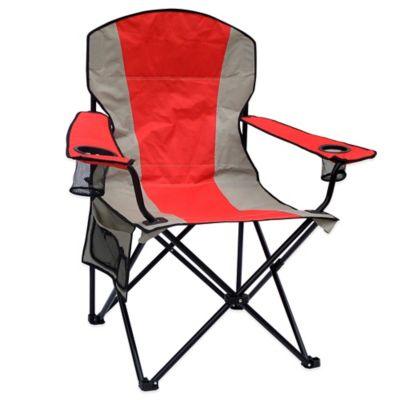 Extra Large Folding Canvas Camp Chair. Buy Metallic Chairs Folding from Bed Bath   Beyond