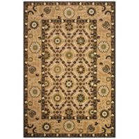 Feizy Border Circles 2-Foot 1-Inch Indoor/Outdoor Rug in Tan/Brown