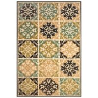 Feizy Diamond Tiles 2-Foot 1-Inch x 4-Inch Indoor/Outdoor Rug in Sand/brown