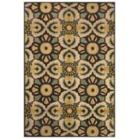 Feizy Kaleidoscope Floral 7-Foot 6-Inch Round Indoor/Outdoor Rug in Tan/Brown