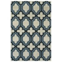 Feizy Trellis 5-Foot x 8-Foot Rug in Blue