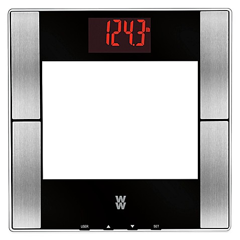 Weight Watchers By Conair Gl Digital Body Ysis Red Led Bathroom Scale