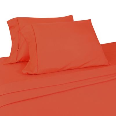 Micro Lush Microfiber Twin Sheet Set In Orange