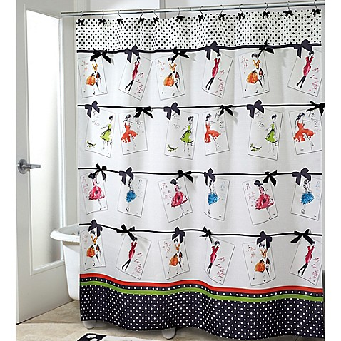 Amazing Avanti Couture Girls Shower Curtain