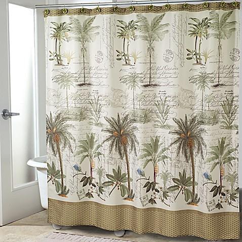 Avanti Colony Palm Shower Curtain Bed Bath Amp Beyond
