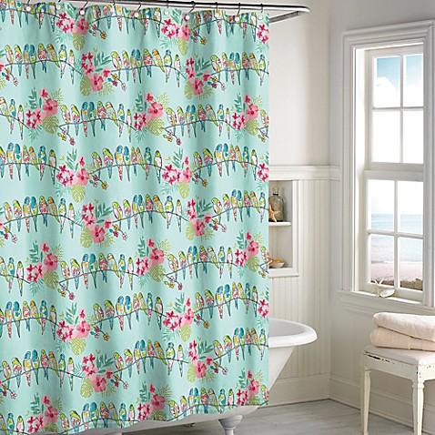 Curtains Ideas bird shower curtain : Tropical Bird Shower Curtain - Bed Bath & Beyond