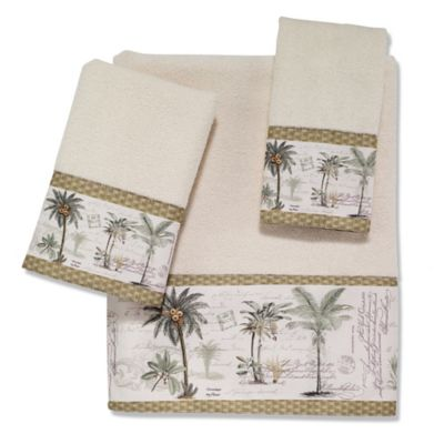 avanti colony palm hand towel - Decorative Hand Towels