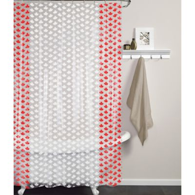 Maple PEVA Shower Curtain