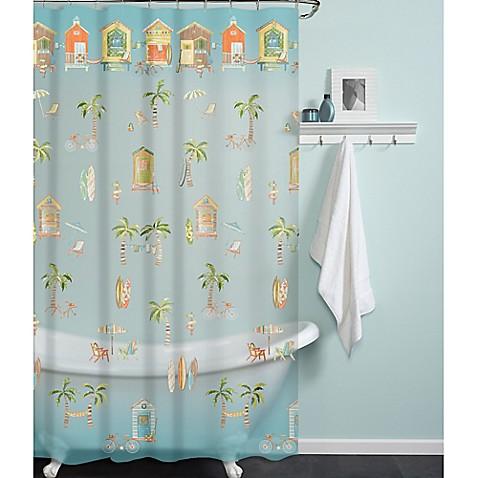 PEVA Cabana Beach Shower Curtain