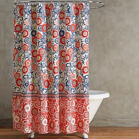 Arabella Shower CurtainArabella Shower Curtain   Bed Bath   Beyond. Red And Blue Shower Curtain. Home Design Ideas