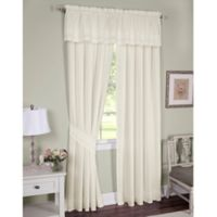 Danielle Embroidered Eyelet 84-Inch Window Curtain Panel Pair with Tiebacks in Ecru