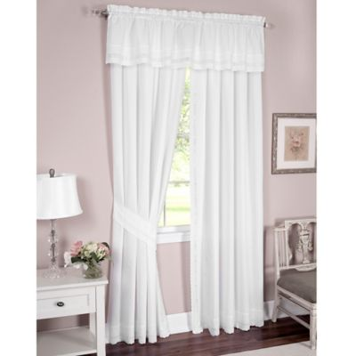 Buy White Embroidered Curtain Panel from Bed Bath & Beyond