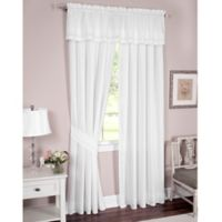 Danielle Embroidered Eyelet 63-Inch Window Curtain Panel Pair with Tiebacks in White