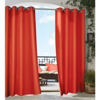 Commonwealth Home Fashions Gazebo 96-Inch Grommet Top Indoor/Outdoor Window Curtain Panel in Red