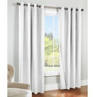 Commonwealth Home Fashions Irongate 84-Inch Insulated Blackout Grommet Window Curtain Panel in White