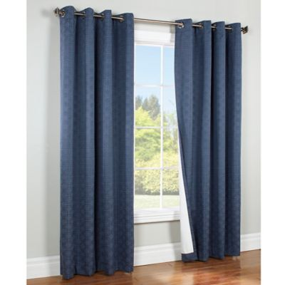 Commonwealth Home Fashions Irongate 84 Inch Insulated Blackout Grommet Window Curtain Panel In Navy
