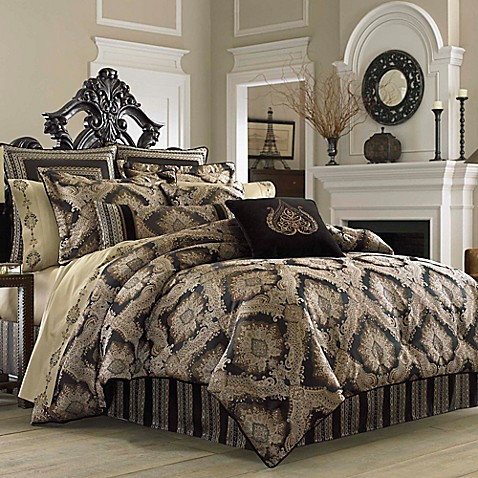 J queen new york onyx comforter set bed bath beyond - Bed bath and beyond bedroom furniture ...