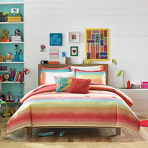 Elegant Teen Vogue® Electric Beach Comforter Set In Coral