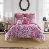 Anthology™ Kaya Reversible Twin Comforter Set in Berry