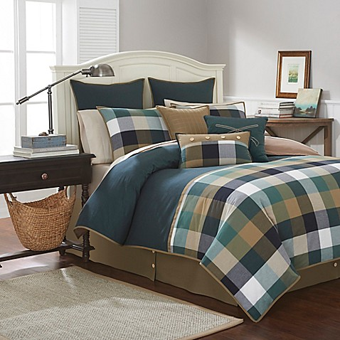 southern tide woodlands comforter set in forest green - bed bath