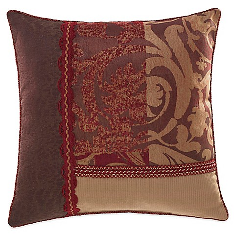 Red Throw Pillows For Bed : Croscill Ryland Square Throw Pillow in Red - Bed Bath & Beyond