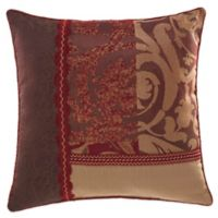 Croscill® Ryland Square Throw Pillow in Red