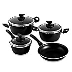 Magefesa® Fit Porcelain on Steel 7-Piece Cookware Set in Black