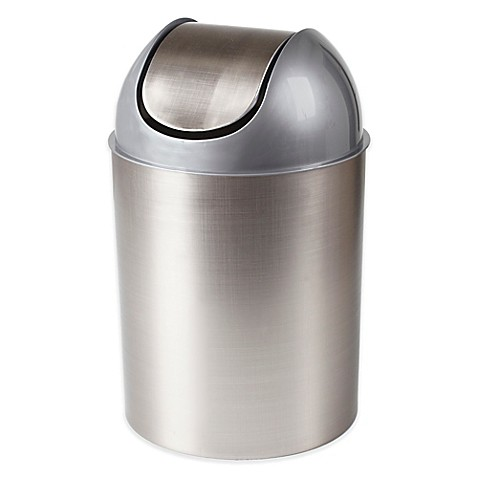 Umbra Mezzo Nickel Trash Can Bed Bath Amp Beyond
