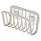 InterDesign® Axis Suction Sponge Cradle in Satin Nickel