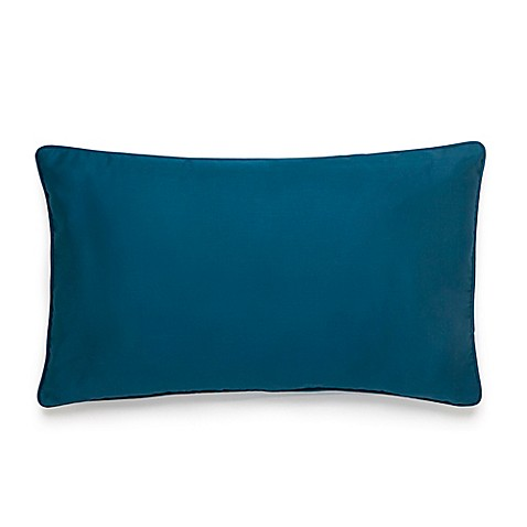 image of Amy Sia Midnight Storm Sateen Oblong Throw Pillow in Teal