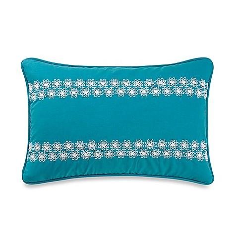Anthology Kaya Eyelet Oblong Throw Pillow in Blue - Bed Bath & Beyond