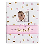 "Carter's® Sweet Sparkle ""Welcome Sweet Baby"" Memory Book in Pink"